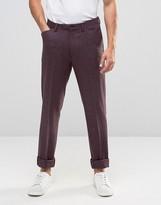 Asos Slim Heritage Trousers In Purple