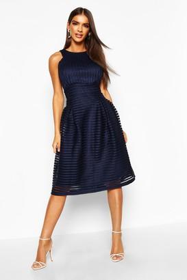 boohoo Boutique Panelled Full Skirt Skater Dress