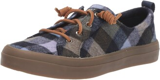 Sperry Womens Crest Vibe Plaid Wool Sneaker
