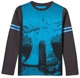 Animal Grey And Blue Slope Skateboard Photo Tee