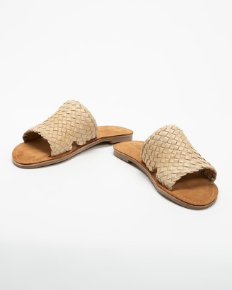 Human Premium - Women's Brown Flat Sandals - Eaton - Size 37 at The Iconic