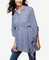 Motherhood Maternity Button-Front Poncho Blouse