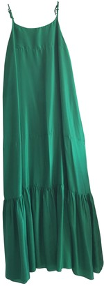 Loup Charmant Green Silk Dress for Women