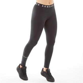 Under Armour Womens Favourite Big Logo Leggings Black/Black/White