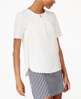 Trina Turk Side-Split Zip-Up Top