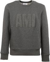 Ami Alexandre Mattiussi Grey Logo Appliqué Sweatshirt