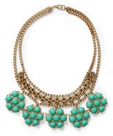 Pim + Larkin Teal Flower Cabochon Necklace