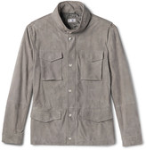 Brunello Cucinelli - Slim-fit Corduroy-effect Suede Field Jacket