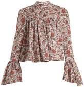 Caroline Constas James floral-print cotton blouse