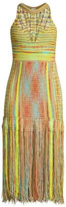 M Missoni Fringe Sleeveless Midi Dress