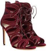 Francesco Russo Cut-out Velvet Ankle Boots