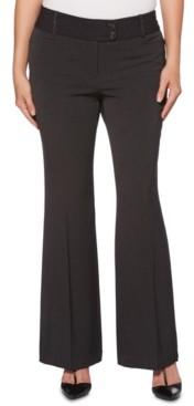 Rafaella Womens Curvy-Fit Gabardine Bootcut Trouser