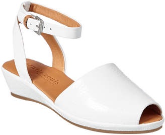 Gentle Souls Lily Ankle Wrap Leather Wedge Sandal