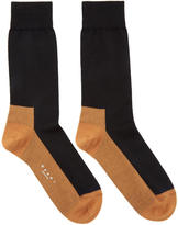 Marni Black and Orange Merino Socks