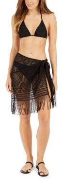 Dotti Bemus Fringed Crochet Sarong Cover-Up Women's Swimsuit