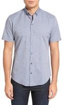 Zachary Prell Men's Samaha Trim Fit Print Sport Shirt