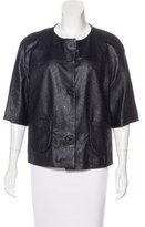 Ter Et Bantine Leather Three-Quarter Sleeve Jacket