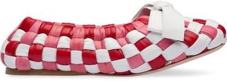 Miu Miu Woven Ballerina Shoes