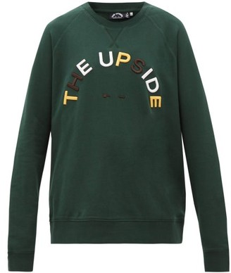 The Upside Sid Horseshoe-logo Cotton Sweatshirt - Green Print