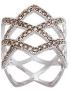 Lord & Taylor Marcasite Open Diamond Design Ring