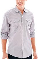JCPenney MICHAEL BRANDON Michael Brandon Long-Sleeve Solid Poplin Shirt