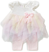Bonnie Jean Bonnie Baby Girls Newborn-24 Months Handkerchief Layered Mesh Tutu Dress & Knit Capri Leggings Set
