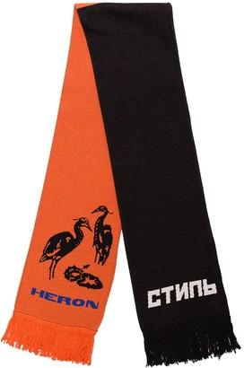 Heron Preston Heron intarsia-knit scarf