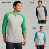 Company 81 OVED APPAREL CORPORATION Men's Raglan Sleeve Henley Tee