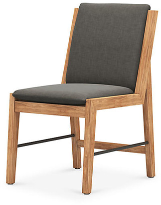 One Kings Lane Gloria Outdoor Dining Chair - Charcoal/Natural