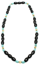 Amrita Singh Berna 18K Yellow Gold, Turquoise & Onyx Necklace