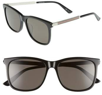 Gucci 56mm Polarized Sunglasses