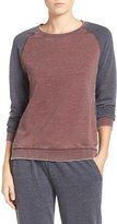 Daniel Buchler Women's Colorblock Washed Terry Pullover