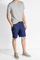 Kenzo Embroidered Cotton Shorts