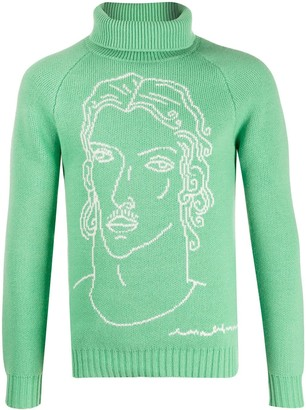 Casablanca Illustration Knit Jumper