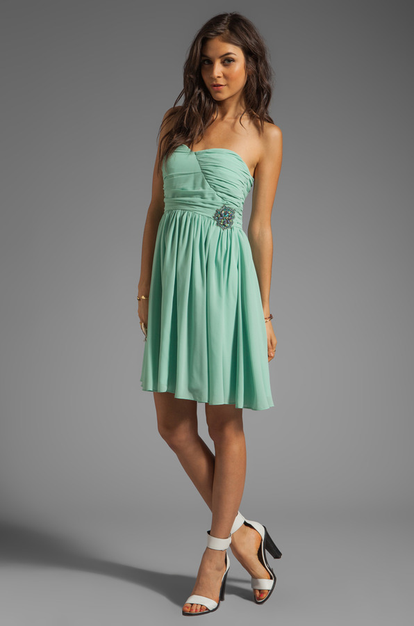 MM Couture by Miss Me Sweetheart Neckline Dress With Embroidery
