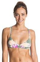 Roxy Women's Castaway Floral Athletic Tri Bikini Top
