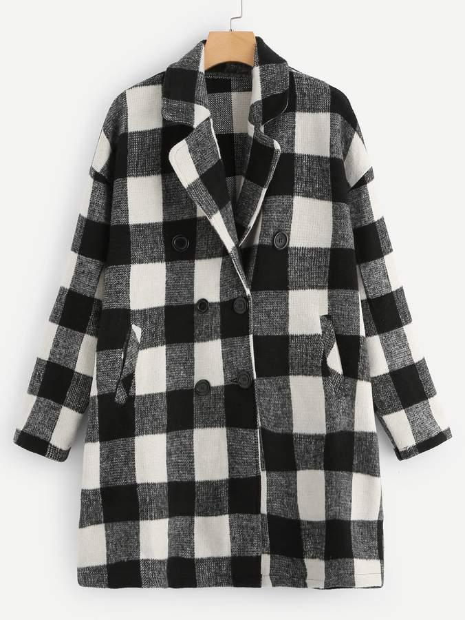 5eddd119e8 Plaid Collar Coat - ShopStyle