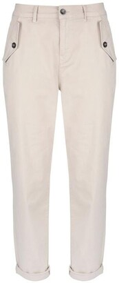 Mint Velvet Neutral Button Pocket Chino
