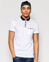 Brave Soul Contrast Chest Bird Polo