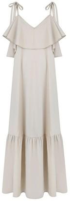 Monica Nera Stella Beige Maxi Dress