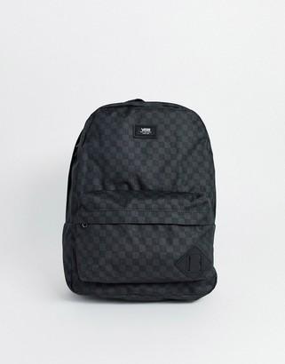 Vans Old Skool ii backpack in gray checkerboard