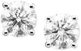 Diamond Earrings, 14k White Gold Diamond Studs (3 ct. t.w.)