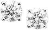 Macy's Diamond Earrings, 18k White Gold Certified Diamond Stud Earrings (1/2 ct. t.w.)