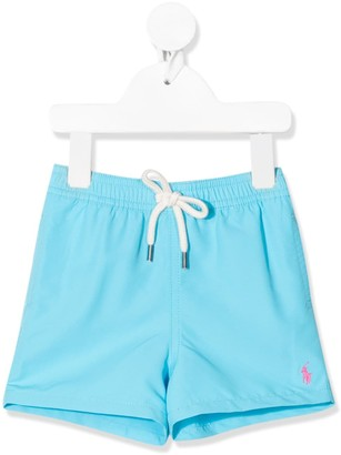 Ralph Lauren Kids Logo Embroidered Swimming Shorts
