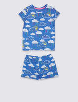 Marks and Spencer Printed Pyjamas with Stretch (1-7 Years)