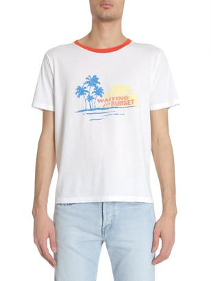 Saint Laurent Waiting For Sunset Printed T-Shirt