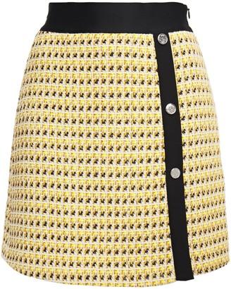 Maje Jisidore Metallic Cotton-blend Tweed Mini Skirt