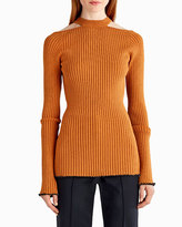 Jason Wu Lit-Shoulder Ribbed Knit Sweater