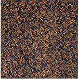 Duchamp Contrast Floral Silk Pocket Square