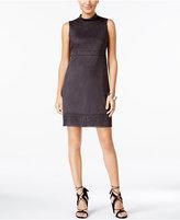 Jessica Simpson Faux-Suede Laser-Cutout Shift Dress